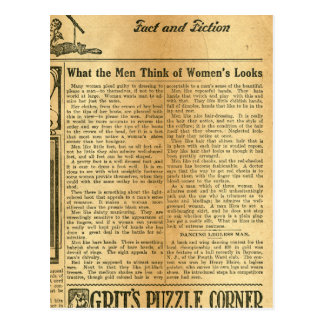 What the Men Think of Women's Looks 1907 Postcard