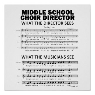 What the Middle School Choir Sees Poster