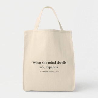 """""""What the mind dwells on"""" shopping bag"""