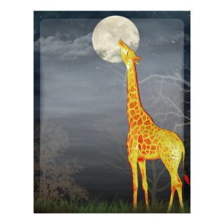 What the moon tastes like? Giraffe and Moon -Flyer Flyer