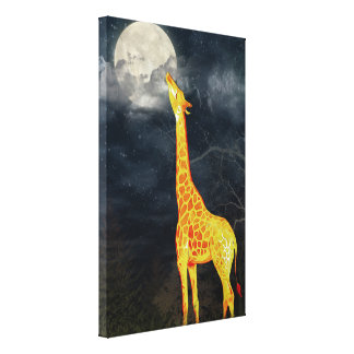 What the moon tastes like? Giraffe & Moon | Canvas