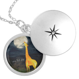 What the moon tastes like? Giraffe & Moon Necklace