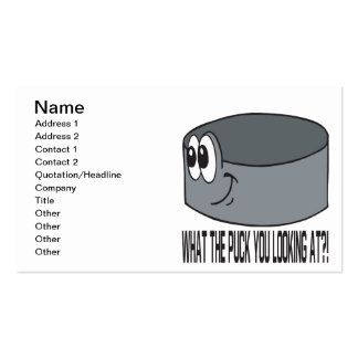 What The Puck Business Card
