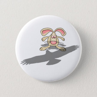 What the...? Rabbit Cartoon Button