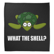 What The Shell Turtle Funny Bandana