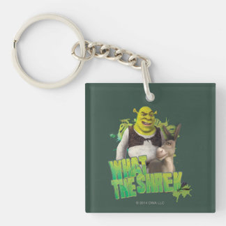 What The Shrek Double-Sided Square Acrylic Keychain