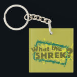 "What The Shrek? Keychain<br><div class=""desc"">Check out these What The Shrek? products! Personalize your own Shrek merchandise on Zazzle.com! Click the Customize button to insert your own name or text to make a unique product. Try adding text using various fonts &amp; view a preview of your design! Zazzle&#39;s easy to customize products have no minimum...</div>"
