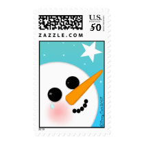 What the Snowman Saw Postage Stamps