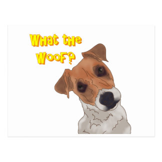 What the Woof? Postcard