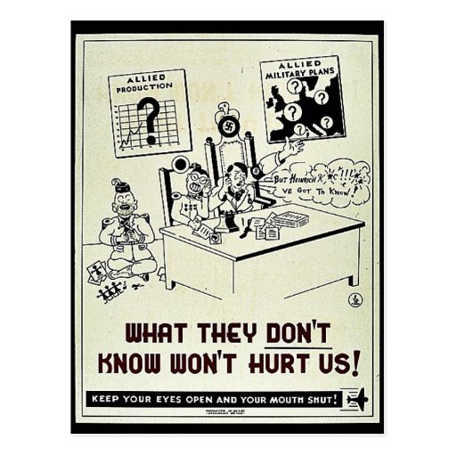 What They Don't Know Won't Hurt Us! Postcard