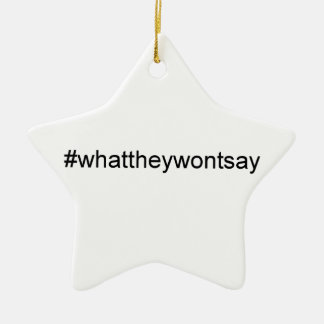 What They Wont Say Hashtag Ceramic Ornament
