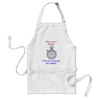 What time is dinner? adult apron