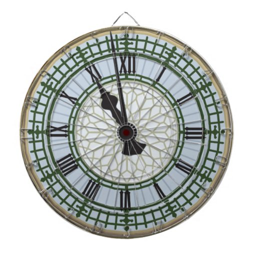 What Time Is It Big Ben London Clock Dartboards