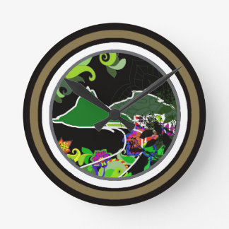 what time is it? ipanema, rio round wall clock