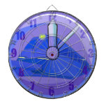 What Time Is It Night Train Clock Dartboard With Darts