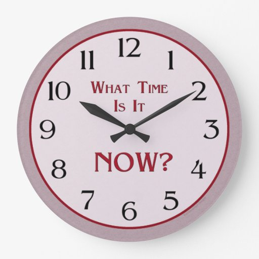 what time is it now round clock zazzle