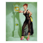 What Time Is It? Pin Up Poster