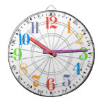 What Time Is It Total 80s Style Retro Clock Dart Boards