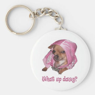 What up dawg keychain