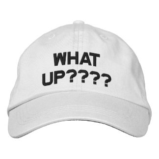What Up Logo, Adjustable Baseball Cap