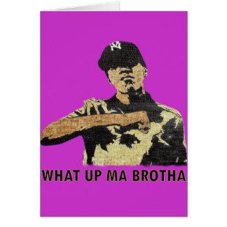What Up Ma Brotha - Graffiti Art Hip Hop Card