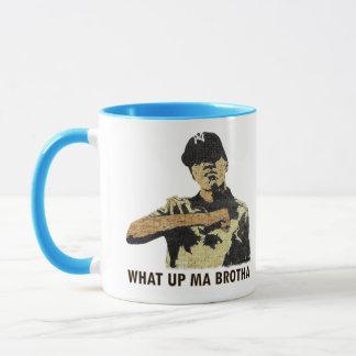 What Up Ma Brotha - Graffiti Art Hip Hop Mug