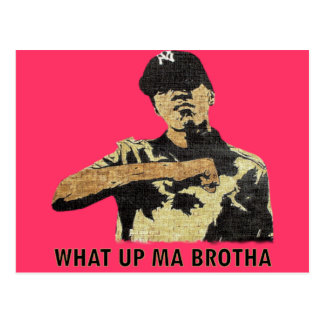What Up Ma Brotha - Graffiti Art Hip Hop Postcard