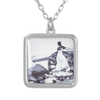 What value? by Francisco Goya Silver Plated Necklace