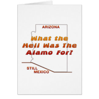 What Was The Alamo For? Card