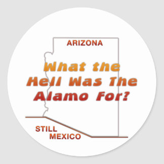 What Was The Alamo For? Classic Round Sticker