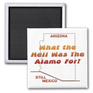 What Was The Alamo For? 2 Inch Square Magnet