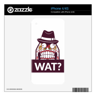 what wat scary teeth design decals for the iPhone 4S
