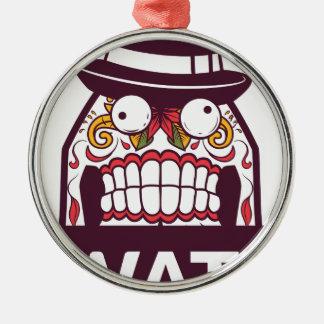 what wat scary teeth design metal ornament