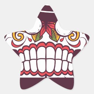 what wat scary teeth design star sticker