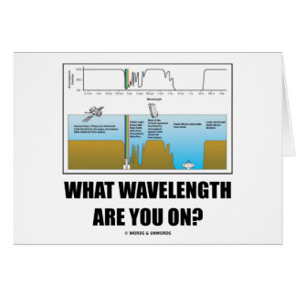 What Wavelength Are You On? (Electromagnetism) Greeting Card