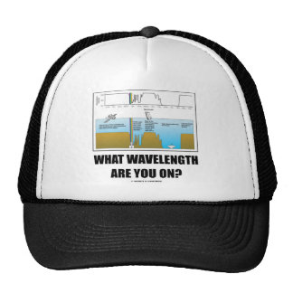 What Wavelength Are You On? (Psychology Humor) Trucker Hat
