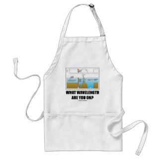 What Wavelength Are You On? (Psychology Humor) Adult Apron