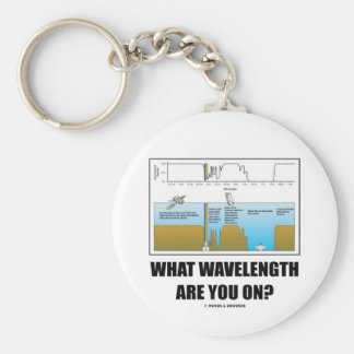 What Wavelength Are You On? (Psychology Humor) Basic Round Button Keychain