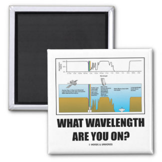 What Wavelength Are You On? (Psychology Humor) 2 Inch Square Magnet