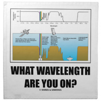What Wavelength Are You On? (Psychology Humor) Napkin
