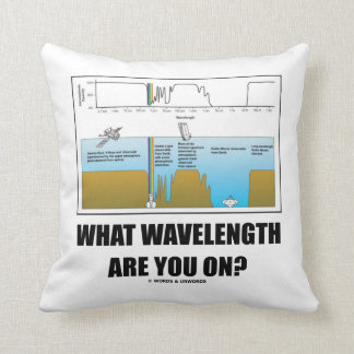 What Wavelength Are You On? (Psychology Humor) Pillow
