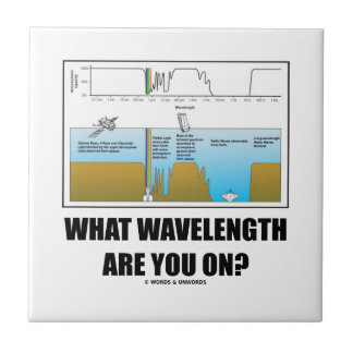 What Wavelength Are You On? (Psychology Humor) Tile
