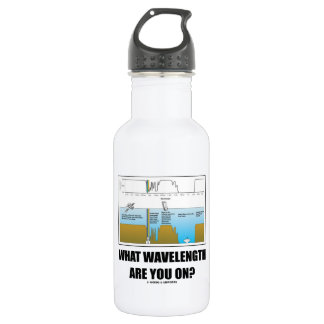 What Wavelength Are You On? (Psychology Humor) Water Bottle