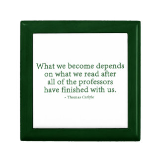 What We Become Depends On What We Read Trinket Box