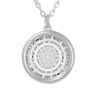 what we repeatedly do personalized necklace