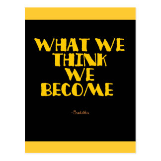 what we think we become buddha postcard