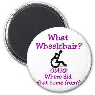 What Wheelchair 2 Inch Round Magnet