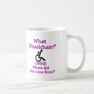 What Wheelchair Classic White Coffee Mug