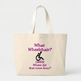 What Wheelchair Large Tote Bag
