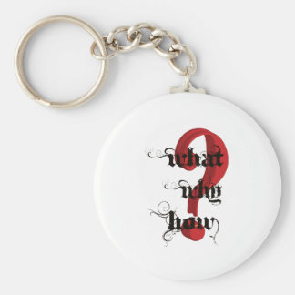 what why how Question Mark vintage Keychain